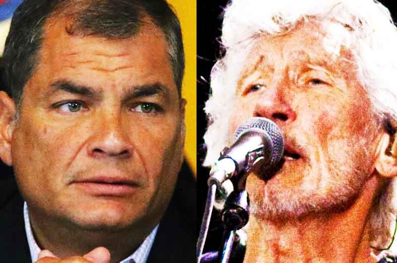Rafael Correa et Roger Waters